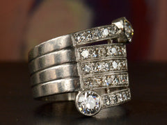 1930s Diamond Cocktail Ring