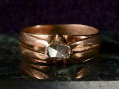 1890s Rose Cut Diamond Ring
