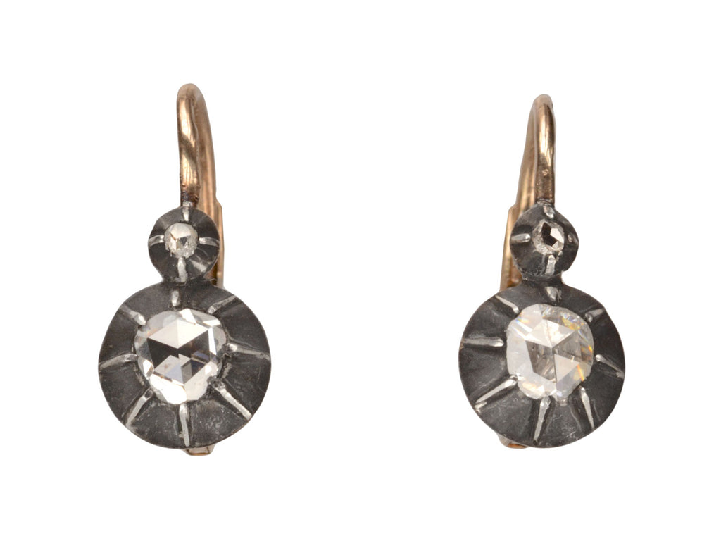 1870s Rose Cut Diamond Earrings