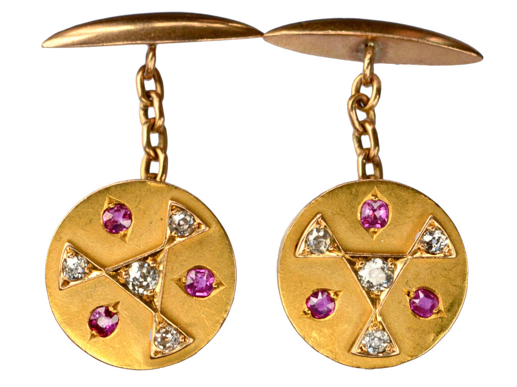 1890s Geometric Diamond Cufflinks