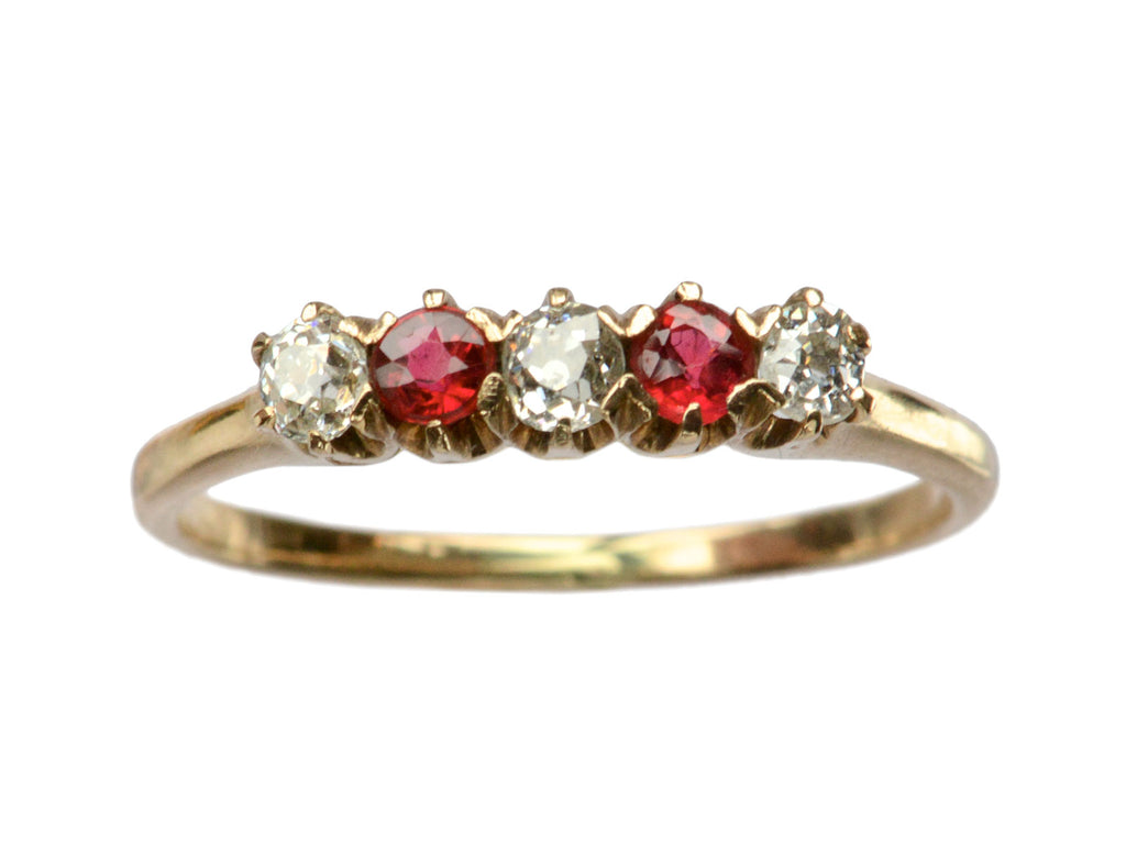 1890s Ruby & Diamond Ring