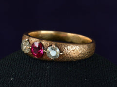 1910s Russian Ruby & Diamond Ring