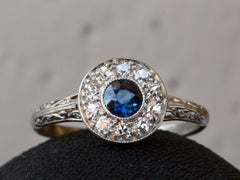 1920s Deco Sapphire Ring