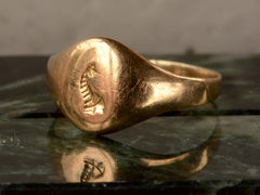 1890s Seahorse Signet Ring
