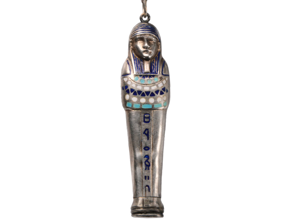 1920s Egyptian Revival Sarcophagus Pendant