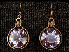 1910s Simulated Alexandrite Earrings