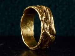 1970s Arthur King Modernist Wedding Band, 18K (Smaller)