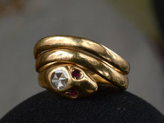 c1960 Diamond Snake Ring