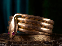 1900s Rose Gold Snake Ring