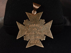 1889 Gold Spelling Bee Medal