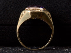 1920s Amethyst Sphinx Ring