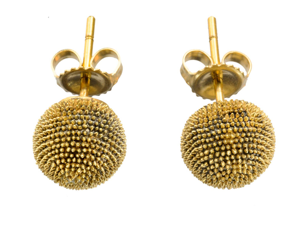 Spiky Gold Sphere Studs