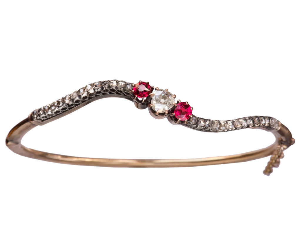 1890s Art Nouveau Diamond Bracelet