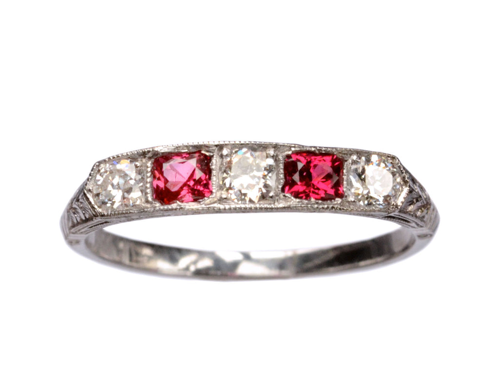 1920s Spinel & Diamond Ring