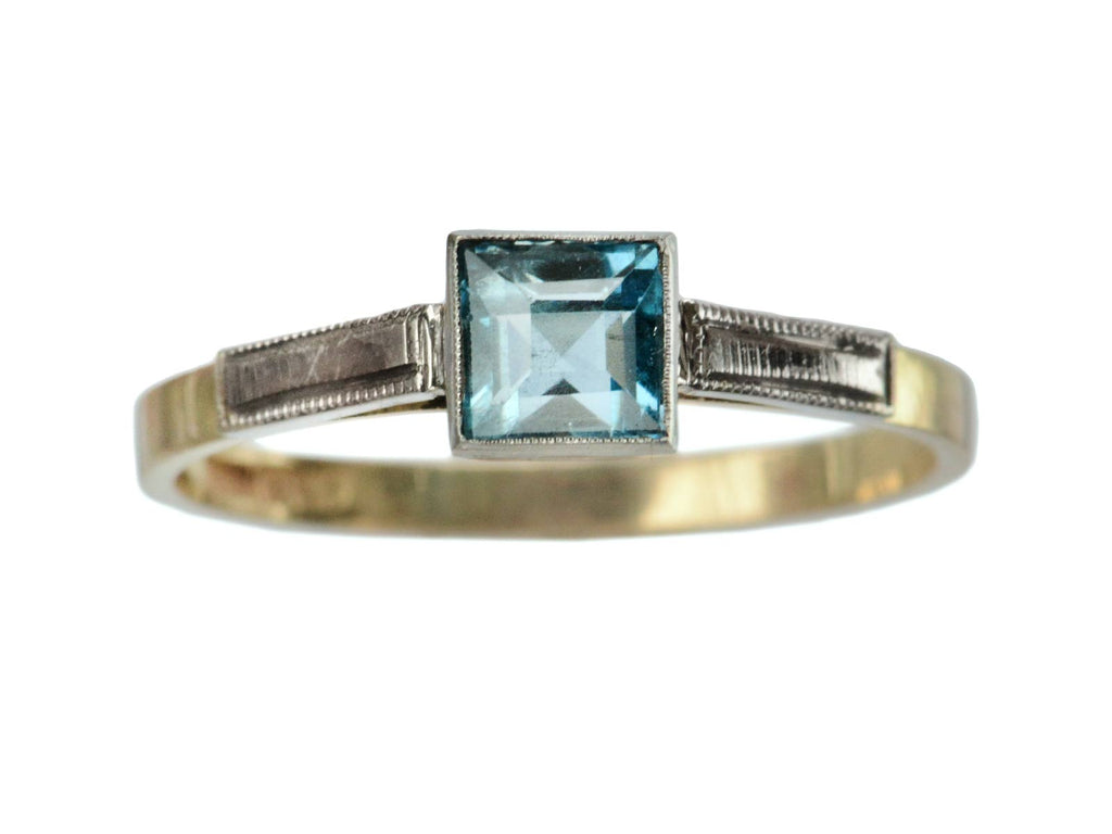 1930s Art Deco Aqua Ring