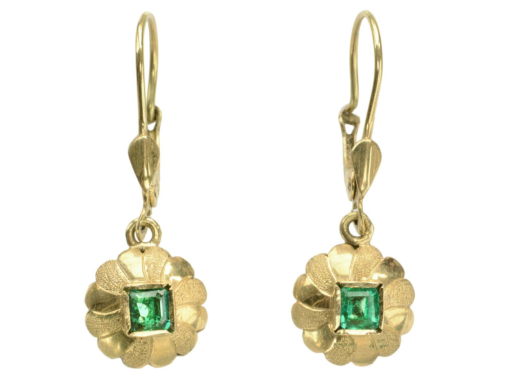 1970s Emerald Drop Earrings