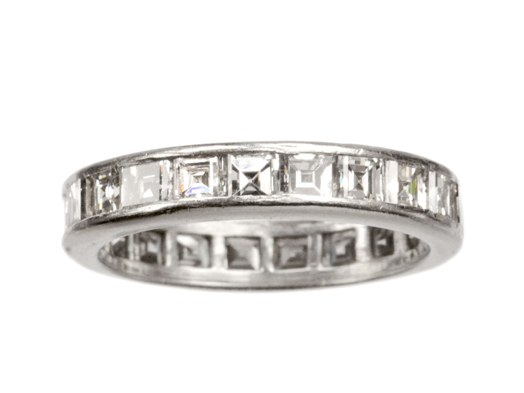 1930s Art Deco Square Diamond Eternity Band