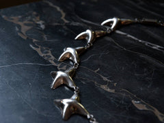 1970s Silver Starfish Necklace