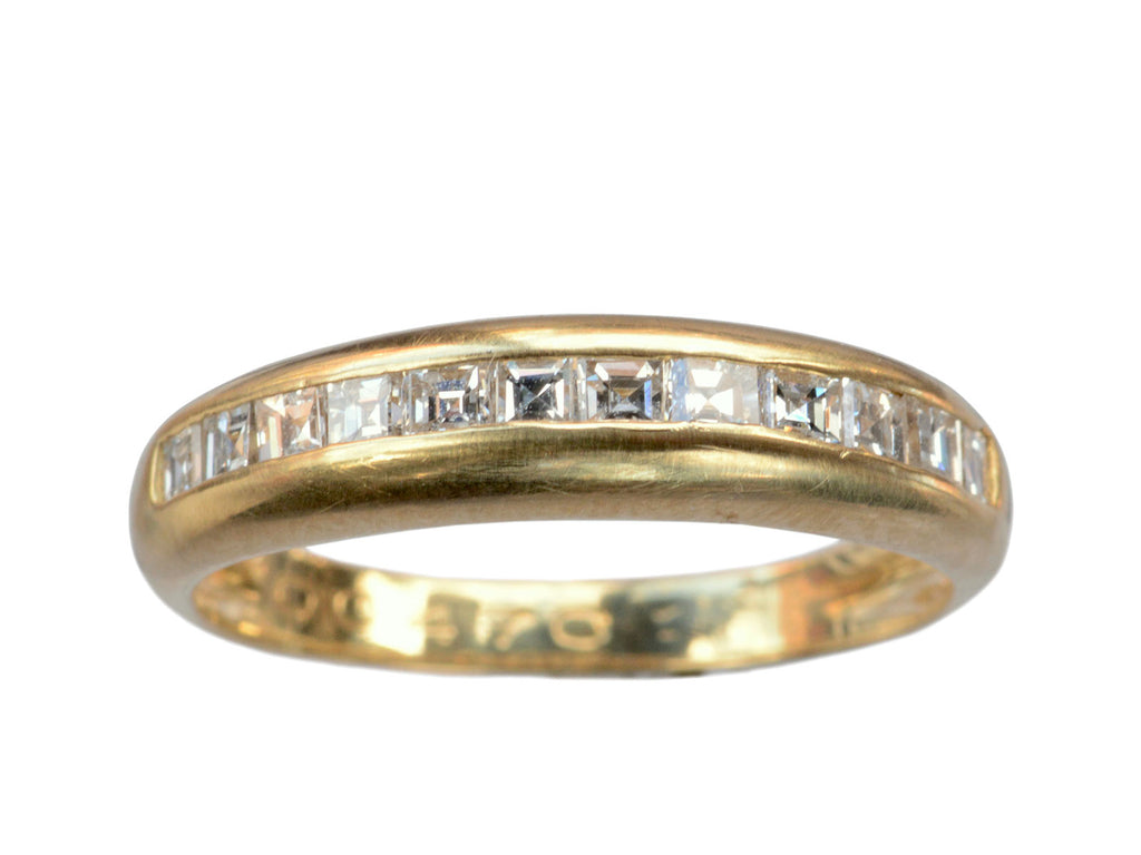 1970s Step Cut Diamond Band