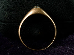 1890s Victorian Diamond Stirrup Ring