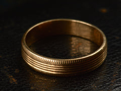 1940s Striped Wedding Band