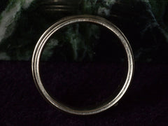 Vintage Striped White Gold Band