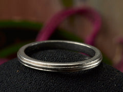 1930-40s Striped Platinum Wedding Band