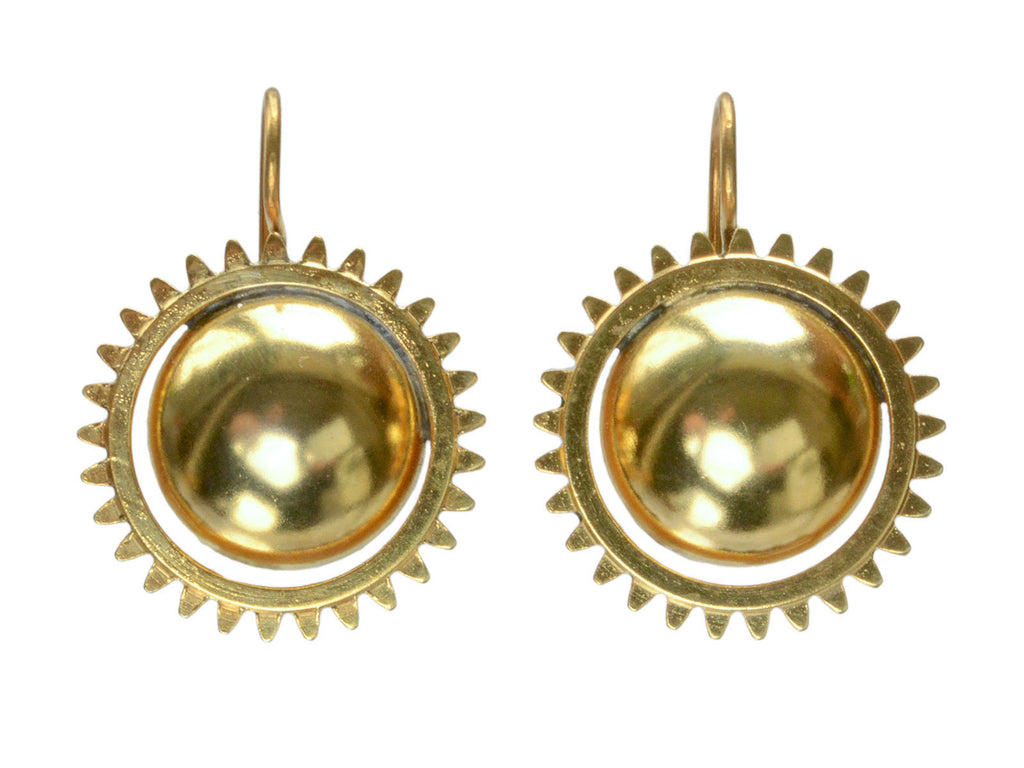 1890s Victorian Suburst Earrings