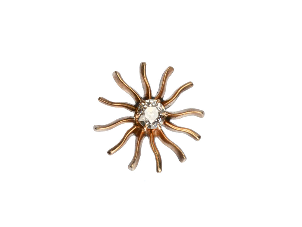 1890s Diamond Sun Stud (Single)