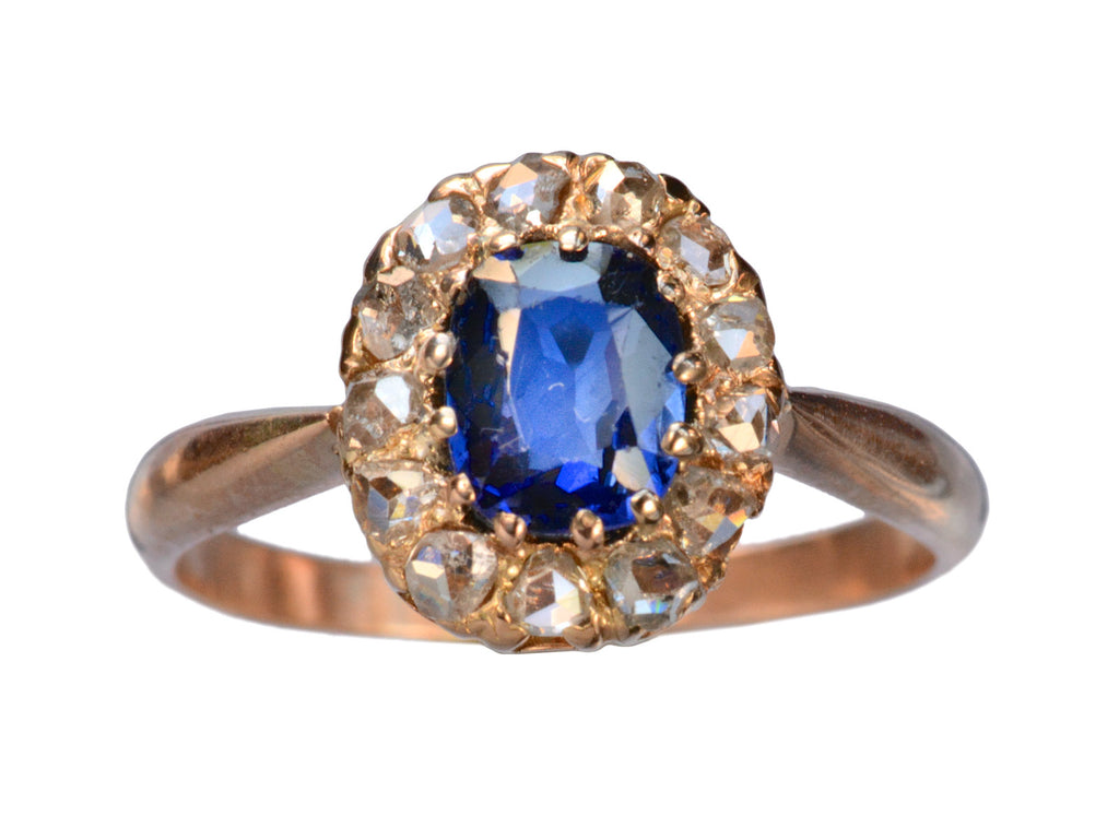 1900s Synthetic Sapphire Ring