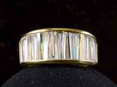 1980s Tapered Baguette Band, 18K Yellow