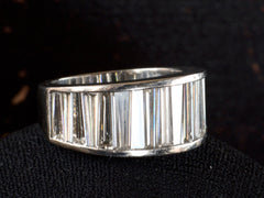 1980s Tapered Baguette Band, Platinum