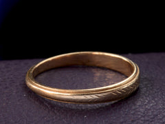 1940s Chevron Wedding Band