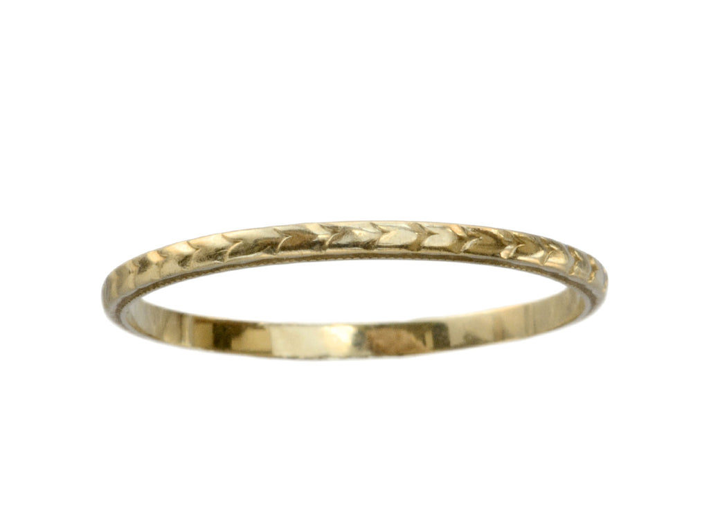 1920s Decorated Gold Band