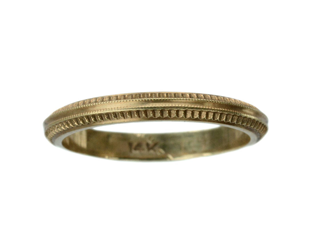 1940s Detailed Gold Band
