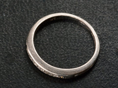 1930s Thin Diamond Band, Platinum