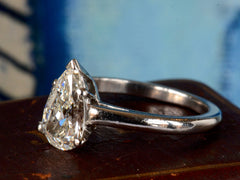 1950s Tiffany & Co. Pear Diamond Ring