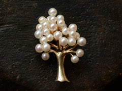 1990s Tiffany Pearl Tree Brooch