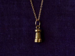 Vintage Castle Tower Pendant