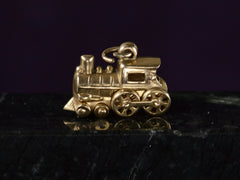 1950s Gold Locomotive Charm