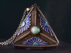 1920s Chinese Triangular Box