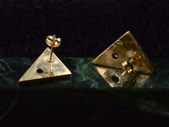 1980s Inlaid Triangular Diamond Studs
