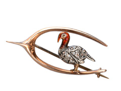 1890s Turkey Wishbone Brooch