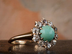 1900s Turquoise & Diamond Ring