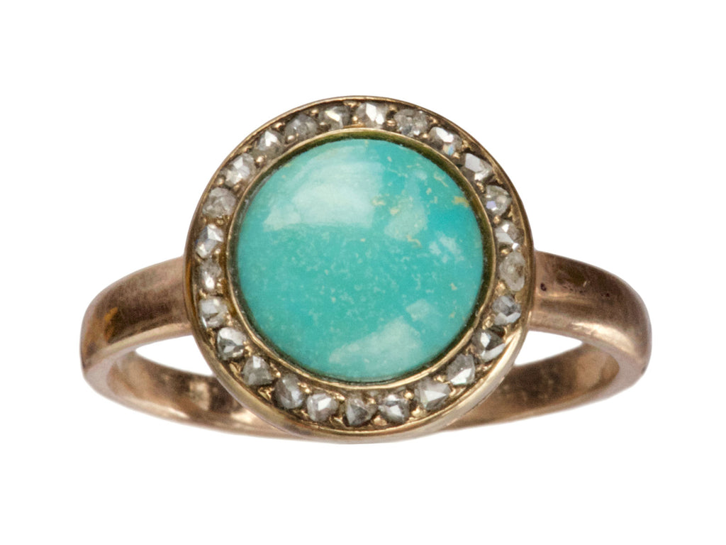 1880s Turquoise & Diamond Ring