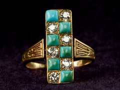 1890s Victorian Checkerboard Ring