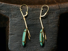 1970s Turquoise Drop Earrings