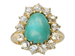 1890s Turquoise & Diamond Ring