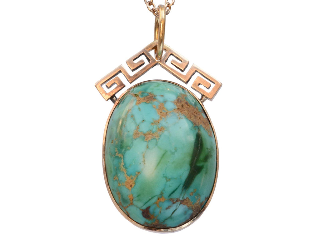 1880s Turquoise Pendant Necklace