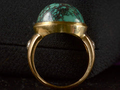 1920s Turquoise & Diamond Ring